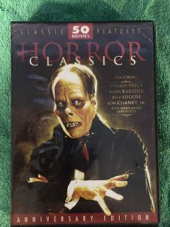 HORROR CLASSICS Movies over 62 Hours on 12 DVDs
