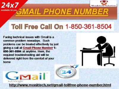 Gmail Phone Number – A sharp recover 1-850-361-8504
