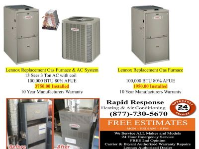 Affordable FREON Air Conditioning & Heating System Repairs and Installs