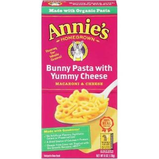 Annie's Bunny Pasta with Yummy Cheese Macaroni and Cheese