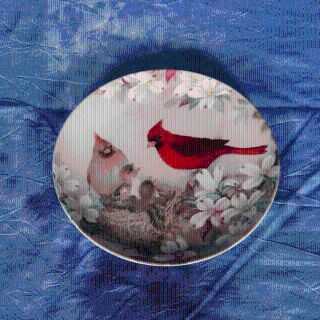 COLLECTOR PLATE BRADEX 1989 MORNING SERENADE Nature's Poetry Series