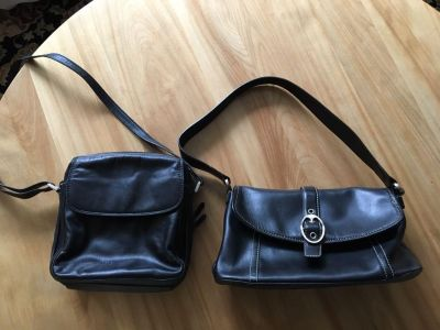 Nicholas Alexander and Fossil Black Leather Purse $5.00 each