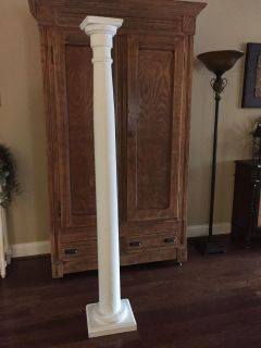 Old Wooden Column / Plant Stand
