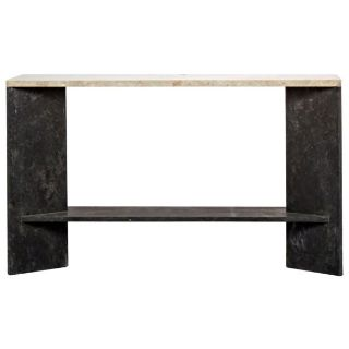 Jonquil Console, Black Marble and White Marble