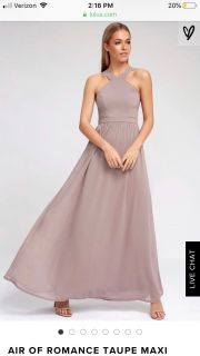 Lulus maxi bridesmaid dress