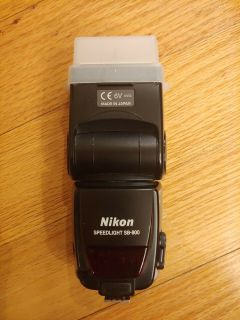Nikon SB-800 Speedlight Flash Works Great w 5th Aux Battery and Diffusion Dome