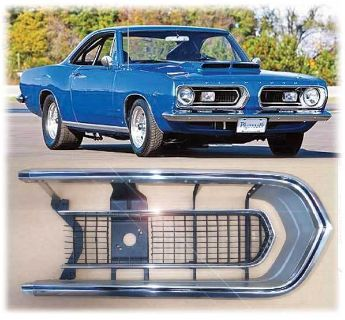 Purchase 67 BARRACUDA GRILL RH XTRA NICE HEMI CUDA polished GRILLE formula S motorcycle in Saint Augustine, Florida, US, for US $310.00