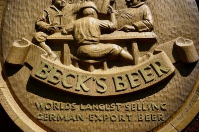 "RARE - VINTAGE BECKS BEER HIGH RELIEF ""TAVERN"" BAR WALL SIGN"