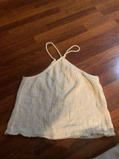 AERIE summer Halter too with rope ties size Medium