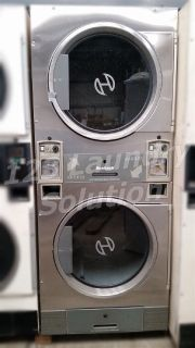 For Sale Huebsch Stack Dryer Coin Op 30LB JT0300DRG 120V Stainless Steel Used