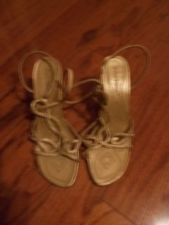 *REDUCED **Ladies PIERRE DUMAS Gold Sandals***SZ 8.5