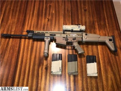For Sale: FN SCAR 17S FDE with Burris AR-536 scope