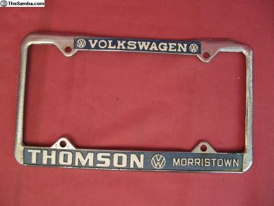 Thomson VW Morristown License Plate Frame