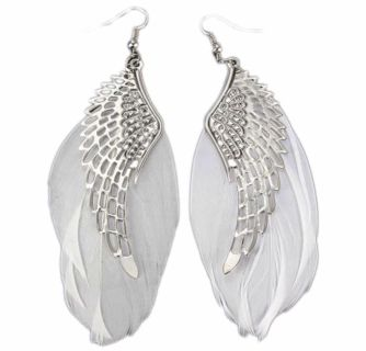 Brand New Women s Angel Wing Feathered Earrings