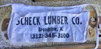 Scheck Lumber Co. Roofing Nail Pouch Tool Belt Apron Advertising