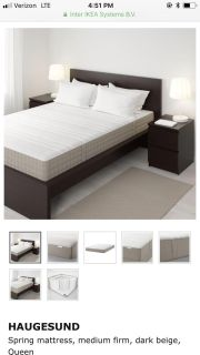 IKEA Queen Size Malm Bed