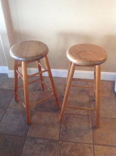 Pair of wooden barstools