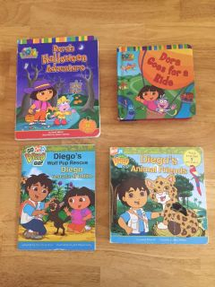 Dora and Diego hard covers books
