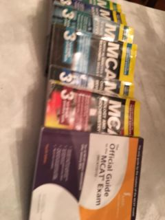 Set of Princeton Review MCAT books for new MCAT (2015)