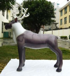 Lifelike Reindeer 7 FEET TALL HUGE Display Holiday Decor Inflatable Heavy Duty