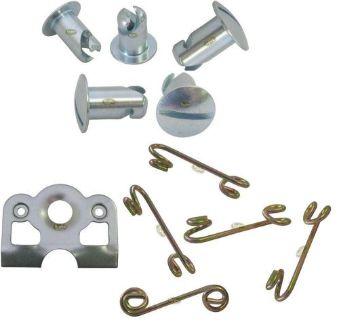 """Purchase 7/16"""" Aluminum Dzus Buttons with Springs and Lightweight Plates 5 pack Fasteners motorcycle in Lincoln, Arkansas, United States, for US $21.99"""