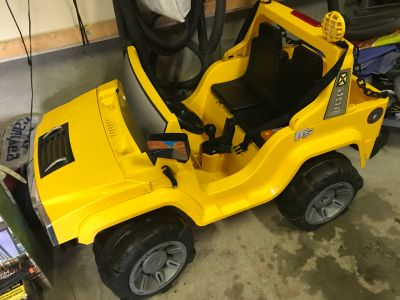 Yellow Battery operated car
