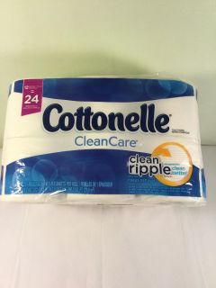 Cottonelle clean care clean ripple 12 equals 24 roll toilet paper