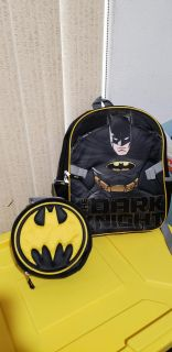 Batman Backpack and Lunchbox Set. Excellent Condition