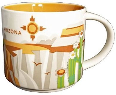 NEW!! Starbucks You Are Here Arizona Mug 14 Oz.