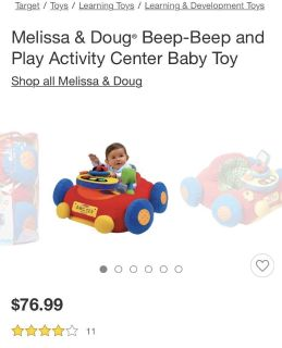 Baby sit up car
