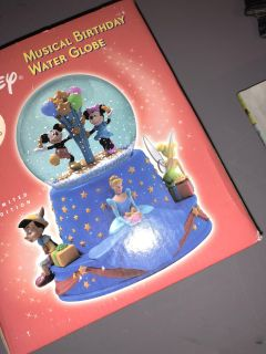New in box musical birthday water globe limited edition