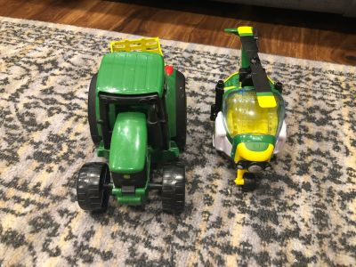EUC tractor and helicopter toy