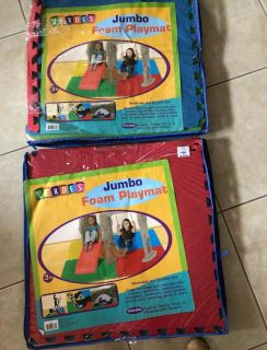 Jumbo Foam Playmat ( 2 packs - each has 4 brightly colored pieces)