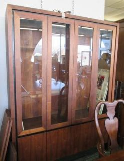 Mid-Century Modern Milo Baughman for Dillingham China Cabinet, MCM