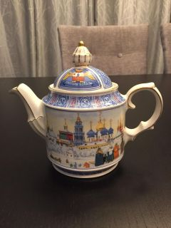 Sadler Teapot, Made in England , from the Russian Collection, Historical Series, registered design number 2005894, Golden Dolphin,