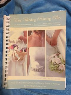 """EASY WEDDING PLANNING PLUS BOOK - EASY TO USE WEDDING PLANNER by WEDDING SOLUTIONS - 11"""" x 9"""" - OVER 300 PAGES -"""