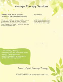 Country Spirit Massage Therapy