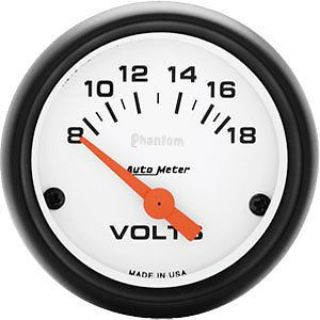 "Sell AutoMeter 5791 Phantom 2-1/16"" Voltmeter Gauge 8-18V motorcycle in Suitland, Maryland, United States, for US $63.90"