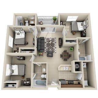 1 Bedroom in a 3 Bedroom Apartment for Sublease in Harrisonburg VA