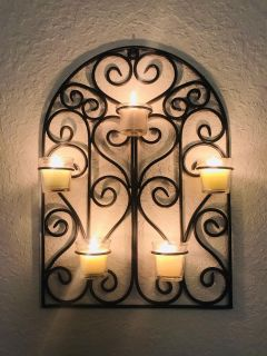 Candle holder wall decor