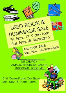 Nov 17 + 18 Rummage + Book Sale