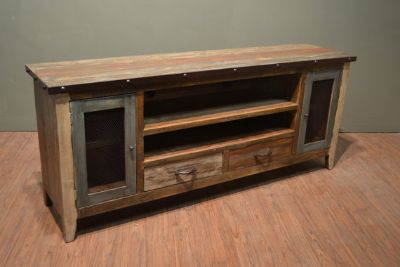 Rustic wood 76 inch TV stand / Media Console