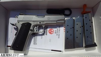 For Sale: Ruger SR1911 w/Magpul grips, Commander size