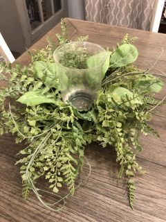 Gorgeous fern centerpiece with glass candle holder-PPU gallatin