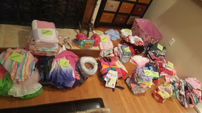 toddler clothes and accessories lot, over 150 pieces