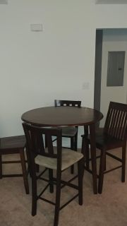 Tall Dining Table with 4 chairs
