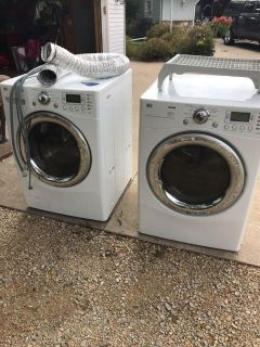 LG tromm washer and dryer. Free. Must take both