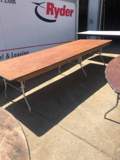 Party tables 10 ft