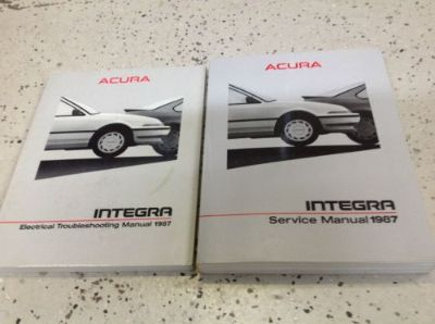 Purchase 1987 Acura Integra Service Shop Repair Workshop Manual Set W Electrical Book OEM motorcycle in Sterling Heights, Michigan, United States, for US $39.95