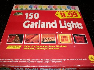 New 150 Christmas Avenue Stand Up Clear Garland Lights